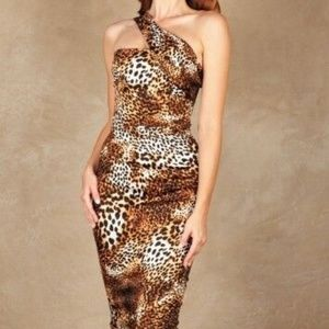 Stop Staring! Katness Fitted Dress Leopard KATNS